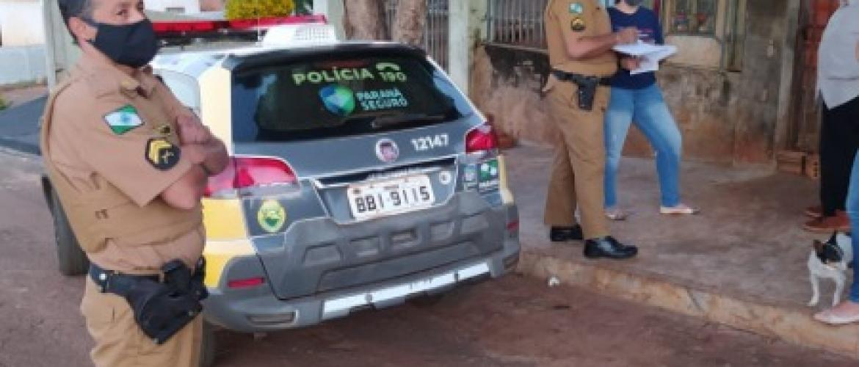 ONG SPA-Uraí com Apoio da Pm Fiscaliza Denuncia Contra Animais em Rancho Alegre